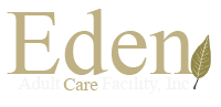 Eden Adult Care Facility logo, adult care homes for the elderly, located in the Phoenix East Valley, serving Mesa, Chandler, Gilbert, Apache Junction, Queen Creek, San Tan Valley and Gold Canyon.